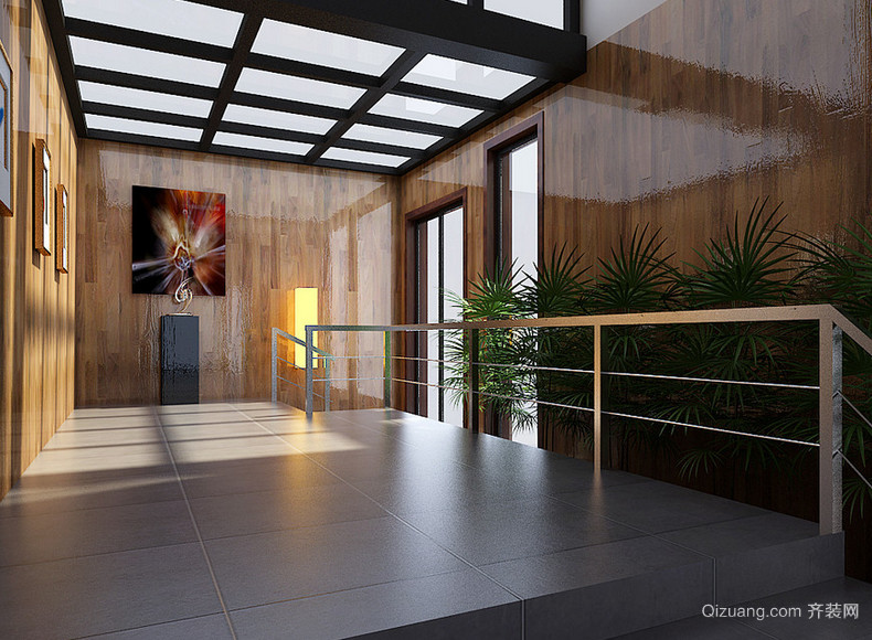 别墅型欧式风格现代室内玄关装修效果图