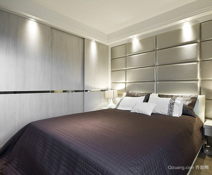 现代欧式风格卧室软包背景墙装修效果图鉴赏