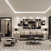 后现代古典照片墙装饰