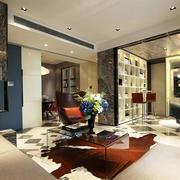 后现代客厅装饰图