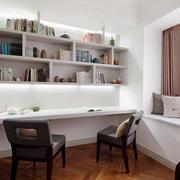 现代简约90平米房屋书房装修效果图