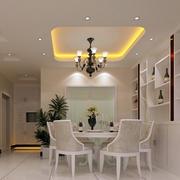 简欧风格90平米房屋餐厅装修效果图
