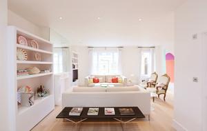 单身女性粉色小公寓家庭装饰设计效果图