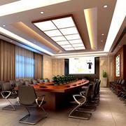 豪华大型企业现代会议室装修效果图