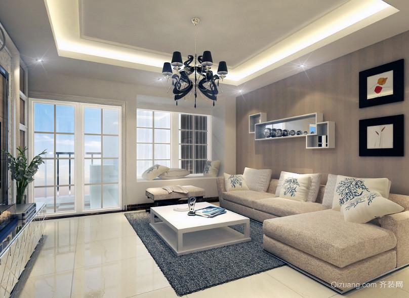 精美的三居室现代简约客厅装修效果图