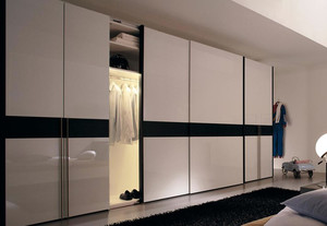 大公寓卧室欧派推拉门简约衣柜设计图