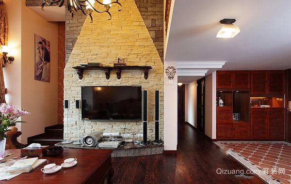 220平米二层复式楼美式家庭装饰设计图
