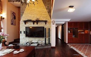家庭客厅文化砖电视墙