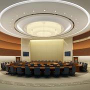超级奢华大户型会议室吊顶装修效果图