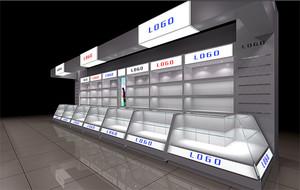 都市公装商场玻璃展示柜装修效果图鉴赏