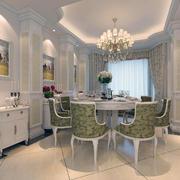 精致的大户型欧式风格房子餐厅装修效果图