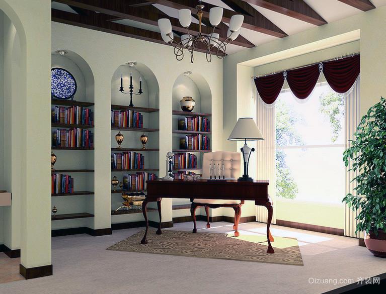 精致的现代大户型书房装修效果图实例欣赏