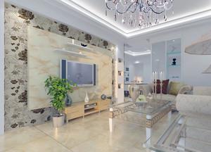 现代欧式客厅石膏板吊顶装修效果图实例