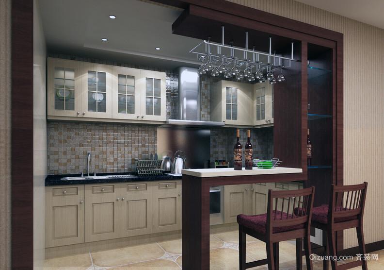 自建别墅现代欧式室内吧台装修效果图实例