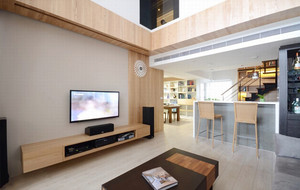 家庭时尚客厅电视墙