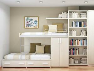 三居室现代浅色儿童房间设计效果图