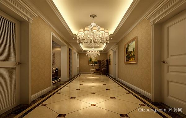 2016欧式大户型走廊吊顶装修效果图案例欣赏