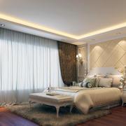 经典的大户型欧式卧室窗帘装修效果图
