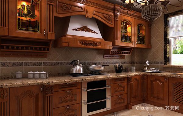 现代欧式风格厨房橱柜装修效果图实例