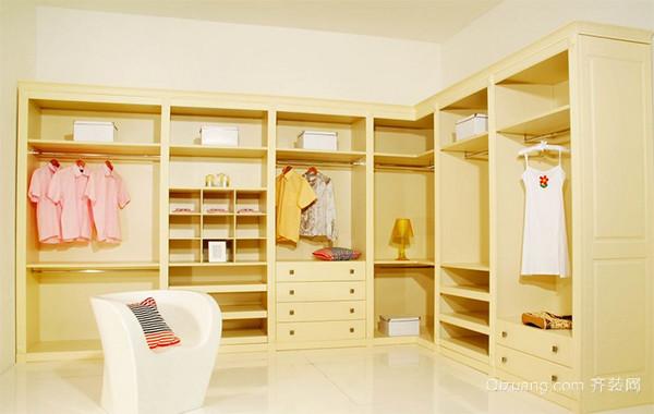 现代三居室欧式室内衣帽间装修效果图