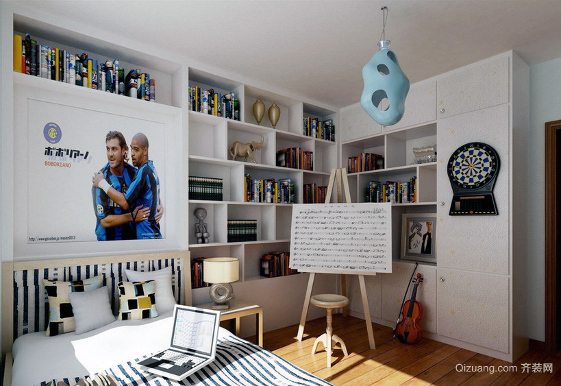 精致的现代欧式大户型儿童房装修效果图