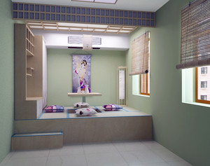 70平米现代日式小户型榻榻米装修效果图