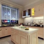 小厨房实木橱柜欣赏