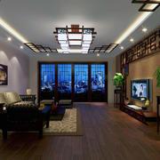 现代精致的大户型中式客厅装修效果图