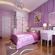 都市大户型紫色浪漫儿童房间设计图