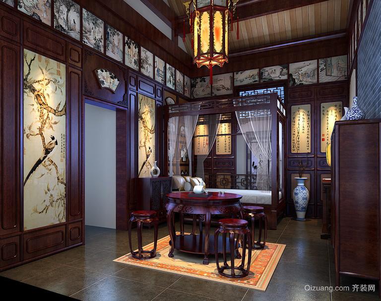 艺术品 传统中式家庭红木餐桌椅效果图