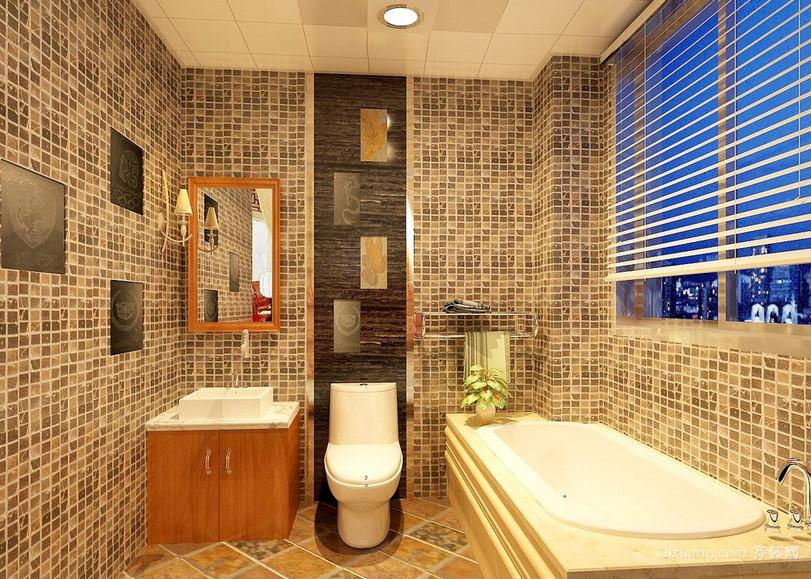 122平米三居室卫生间马赛克瓷砖贴图
