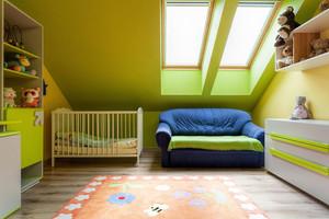 清新阁楼小型儿童房间设计效果图