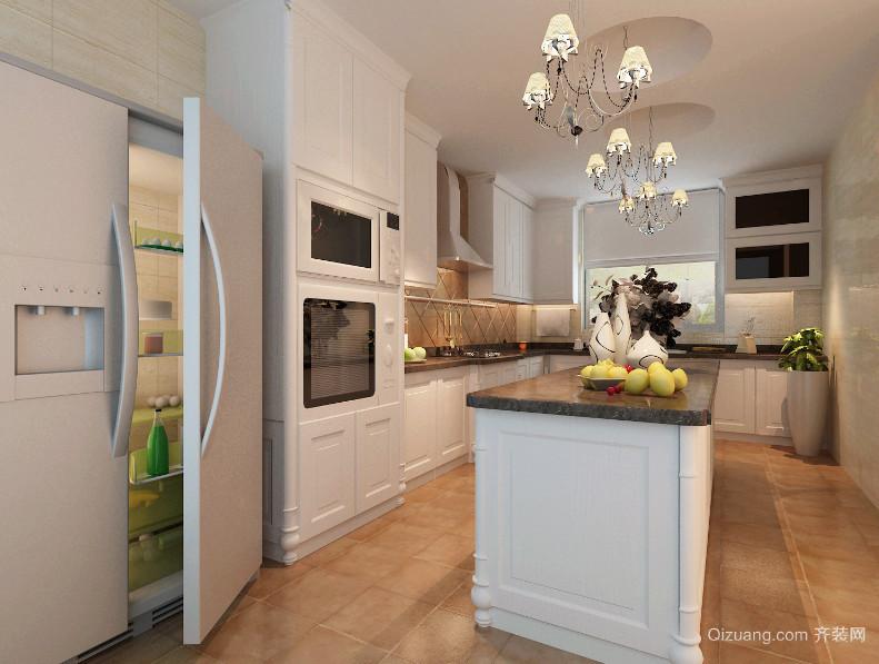 大户型欧式风格开放式厨房装修效果图实例欣赏
