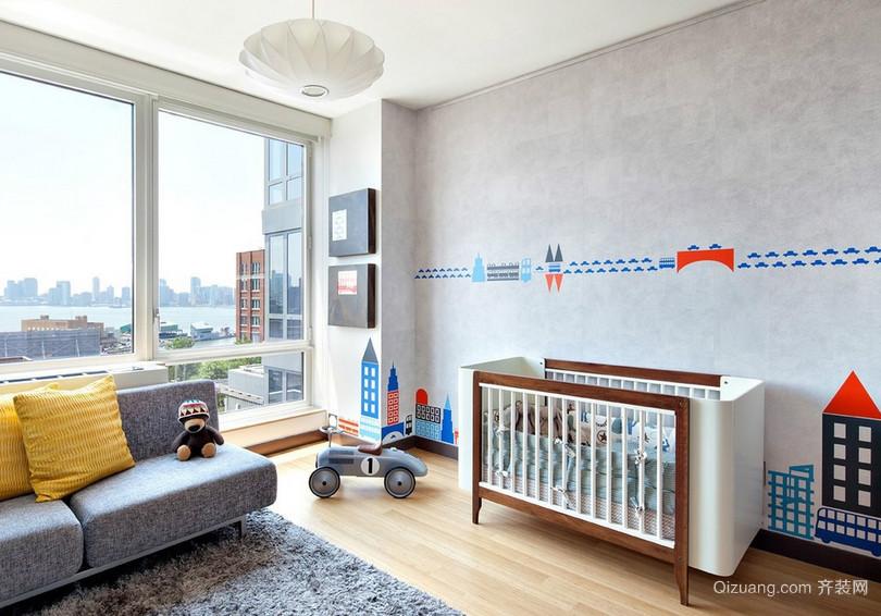 146平米大户型现代简约儿童房间设计图