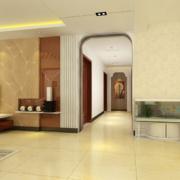 欧式风格现代客厅大户型玄关装修效果图