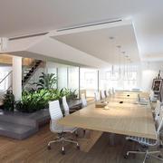 现代小工作室开放式会议室装修效果图