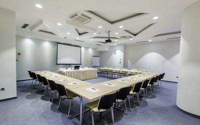2016简约小型会议室装修效果图