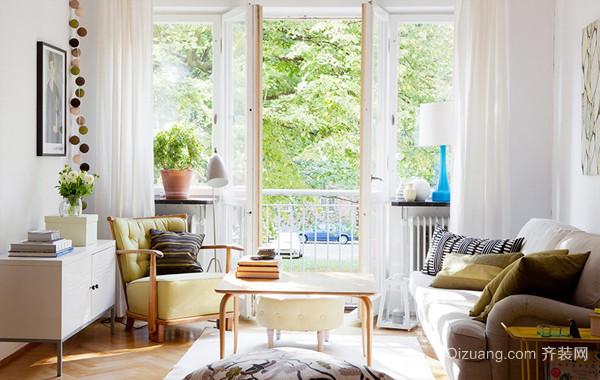 正能量北欧风小户型一居室公寓家装案例