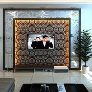 碎花壁纸电视背景墙