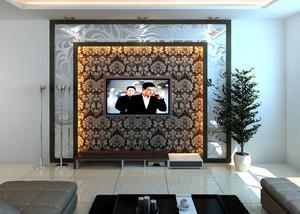2016全新流行的客厅背景墙设计效果图