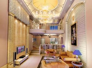 现代欧式风格别墅楼中楼装修效果图实例