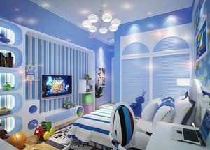 地中海风格别墅型儿童房装修效果图鉴赏