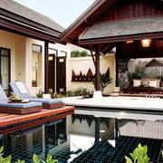 东南亚酒店小游泳池欣赏
