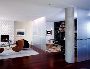 都市133平米家居书房玻璃隔断效果图