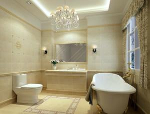 简欧优雅三室一厅浴室装修效果图