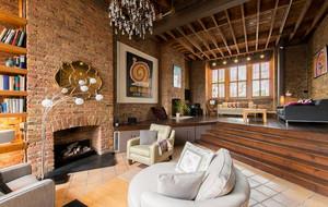 2016复古小公寓loft风格装修效果图