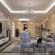 素雅美丽的客厅图片