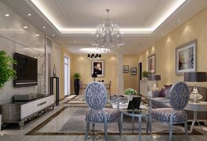 气质型大户型客厅简欧装修效果图欣赏