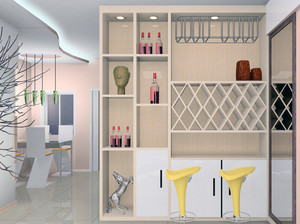 70平米小户型欧式风格酒柜装修效果图实例