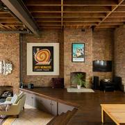 loft公寓复古墙面展示